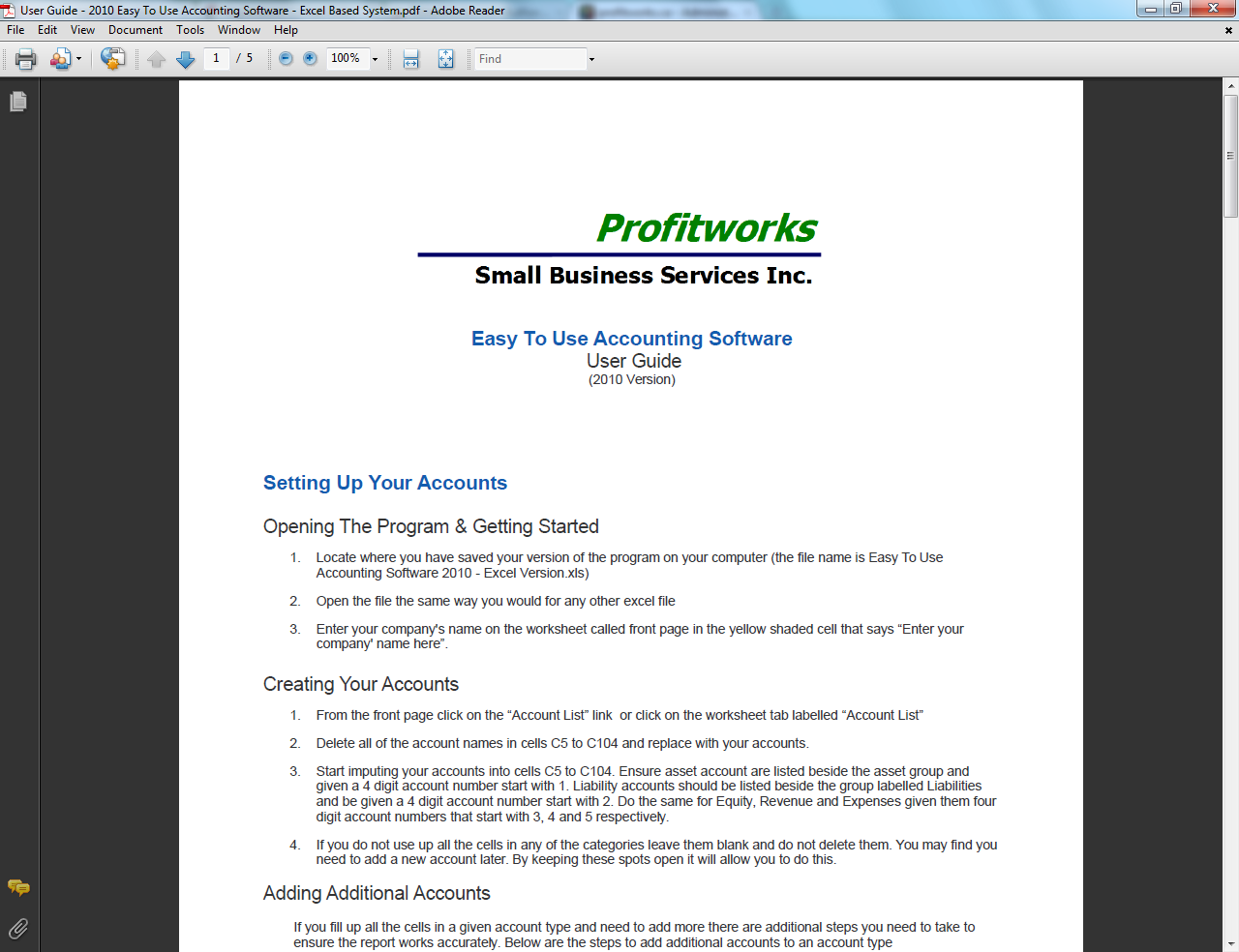 Easy To Use Accounting Software Manual