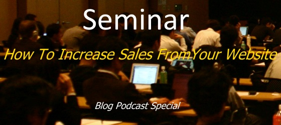 seminar how to increase sales from website