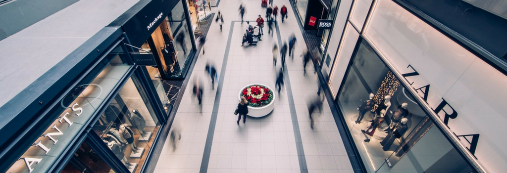 people walking in a mall could be a segment business target