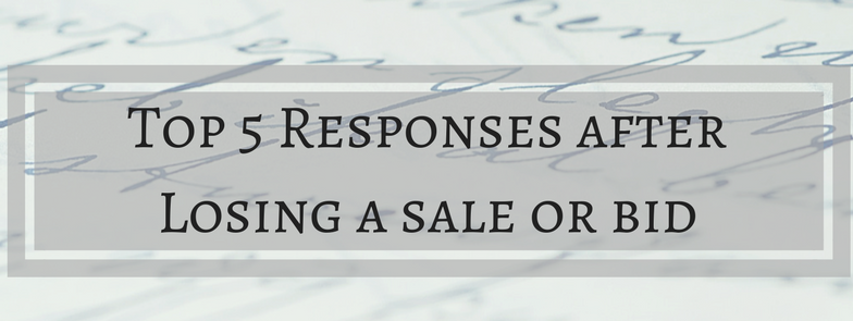 Top response template for sale bid loss banner