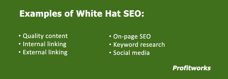 Examples of white hat SEO